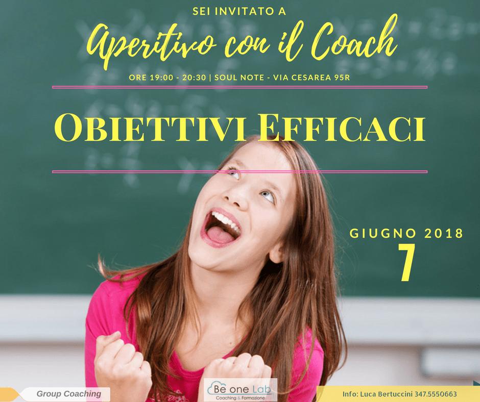 Aperitivo con il Coach Obiettivi efficaci
